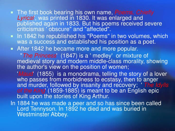 The first book bearing his own name,