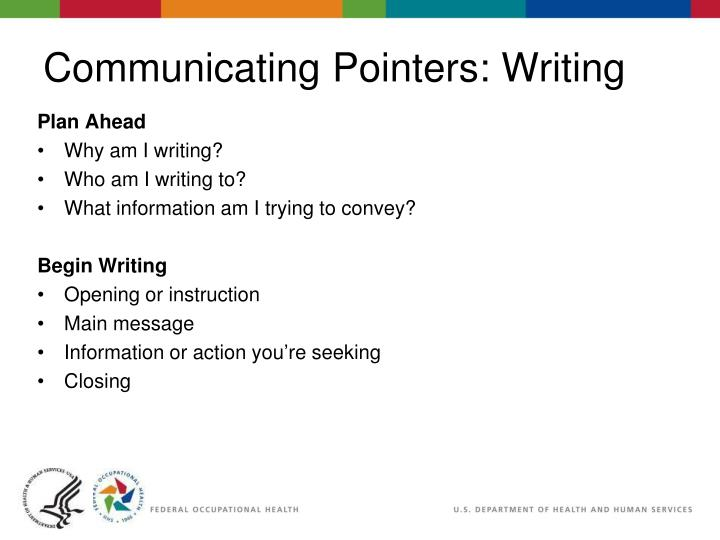 Communicating Pointers: Writing