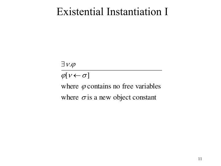 Existential Instantiation I