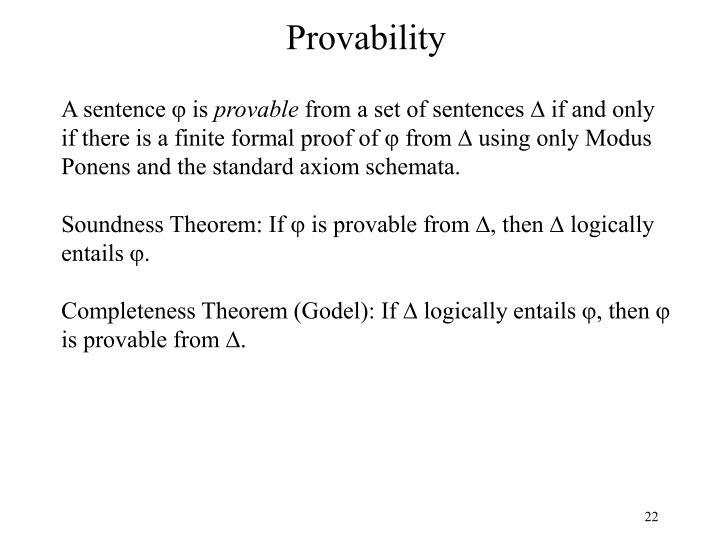 Provability
