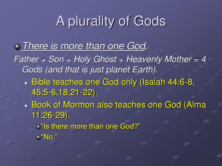 A plurality of Gods