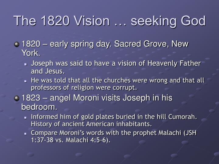 The 1820 Vision … seeking God