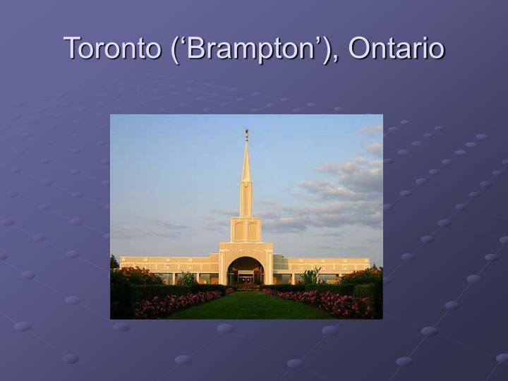 Toronto ('Brampton'), Ontario