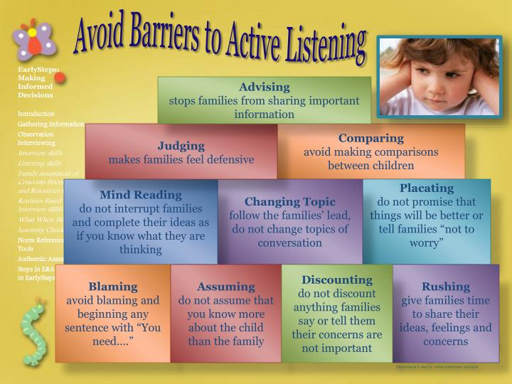 Avoid Barriers to Active Listening