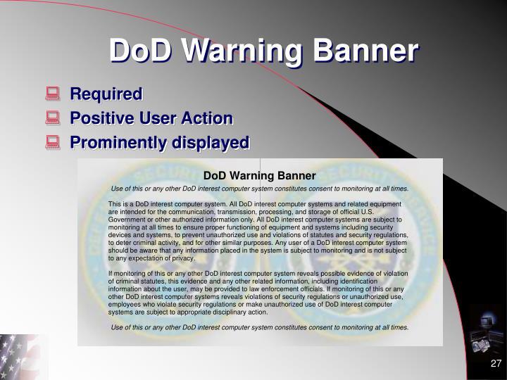 DoD Warning Banner