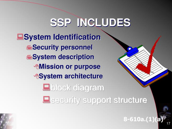 SSP  INCLUDES