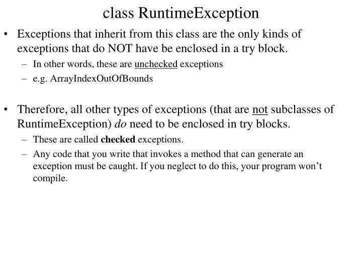 class RuntimeException
