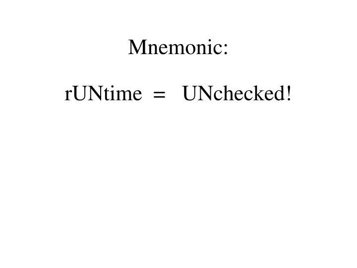 Mnemonic: