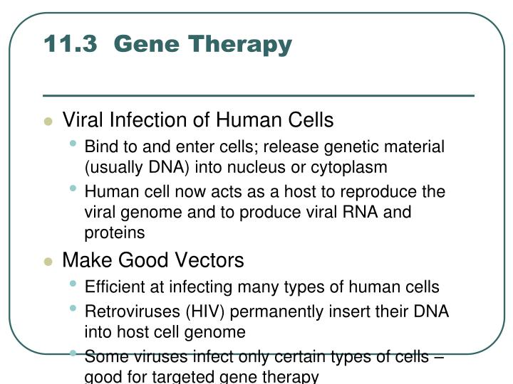 11.3  Gene Therapy
