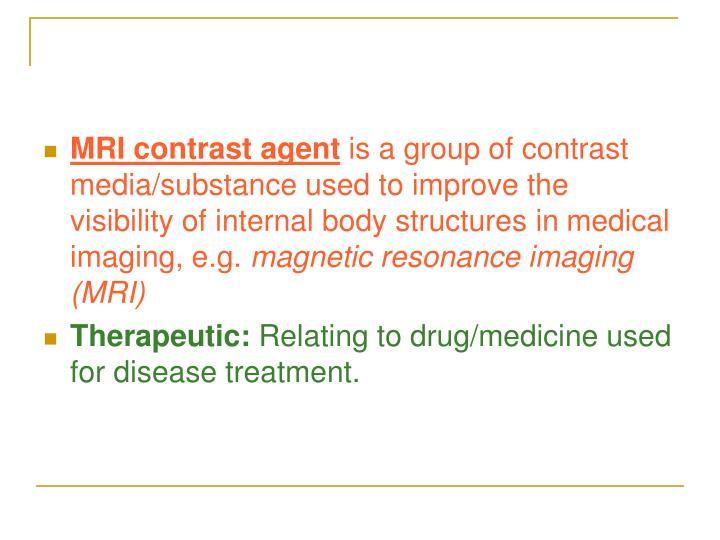 MRI contrast agent