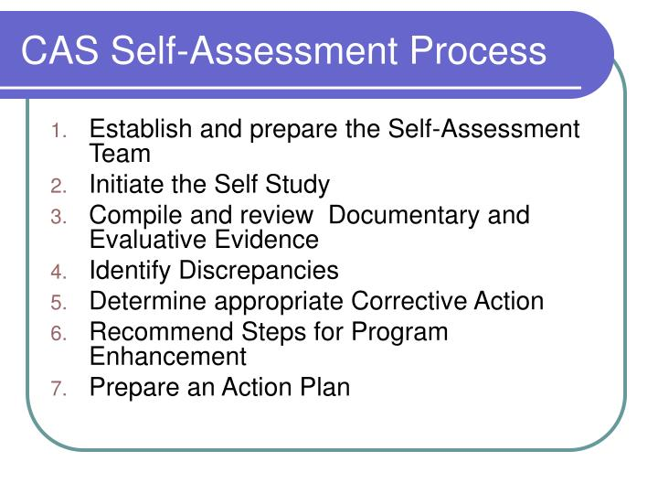 CAS Self-Assessment Process