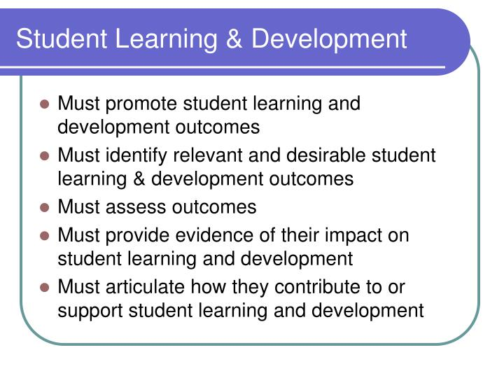 Student Learning & Development