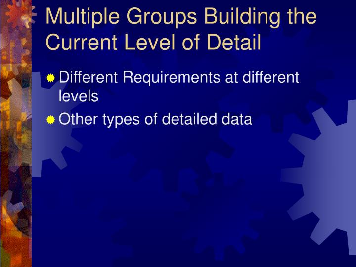 Multiple Groups Building the Current Level of Detail