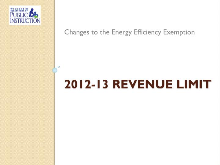 Changes to the Energy Efficiency Exemption