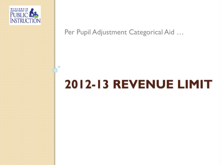 Per Pupil Adjustment Categorical Aid …