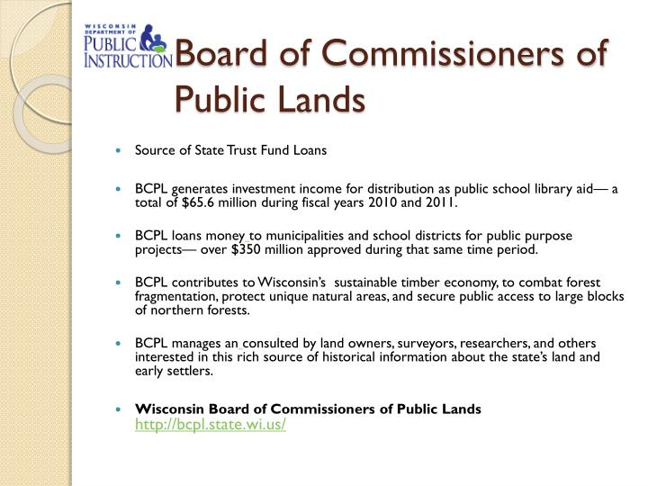 Board of Commissioners of Public Lands