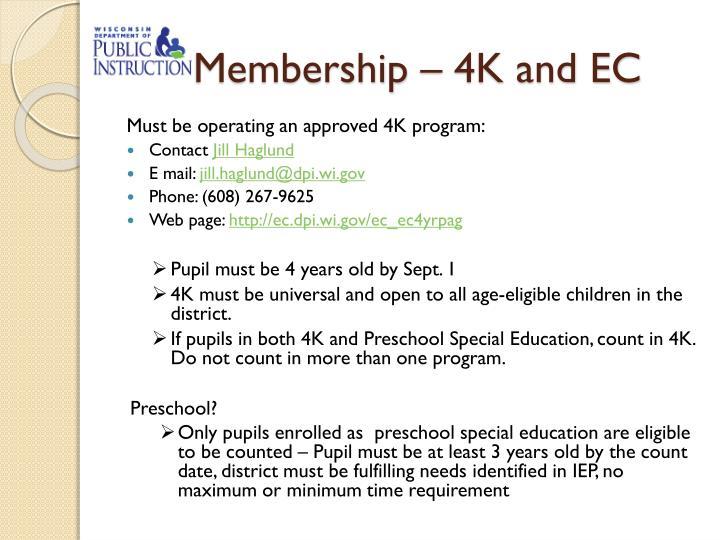 Membership – 4K and EC