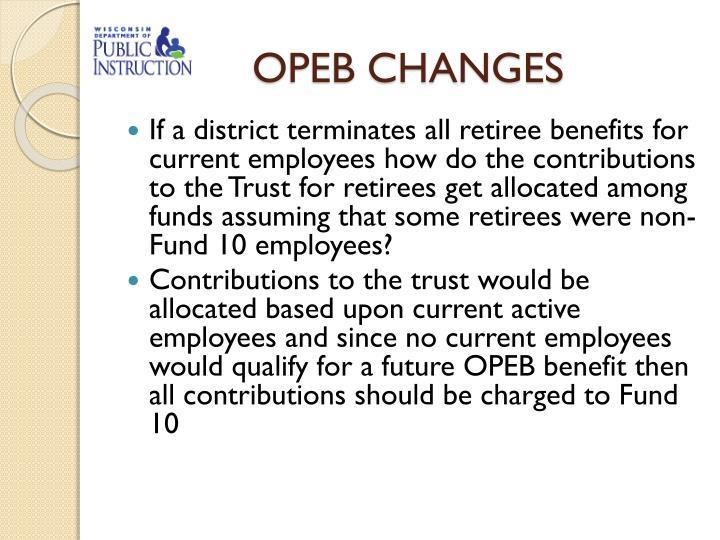 OPEB CHANGES