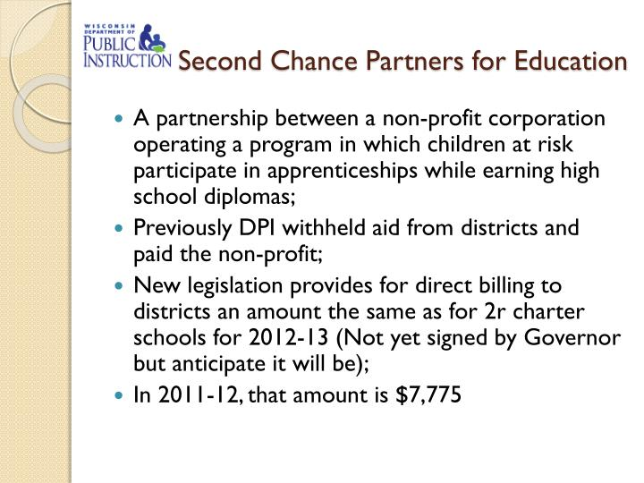 Second Chance Partners for Education