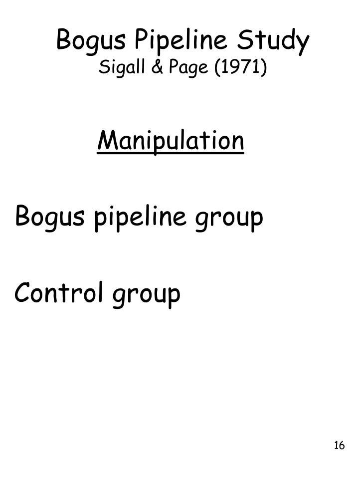Bogus Pipeline Study
