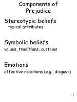 components of prejudice