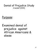 denial of prejudice study crandall 1994