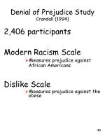 denial of prejudice study crandall 19941