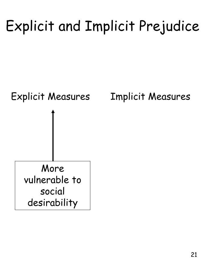 Explicit and Implicit Prejudice