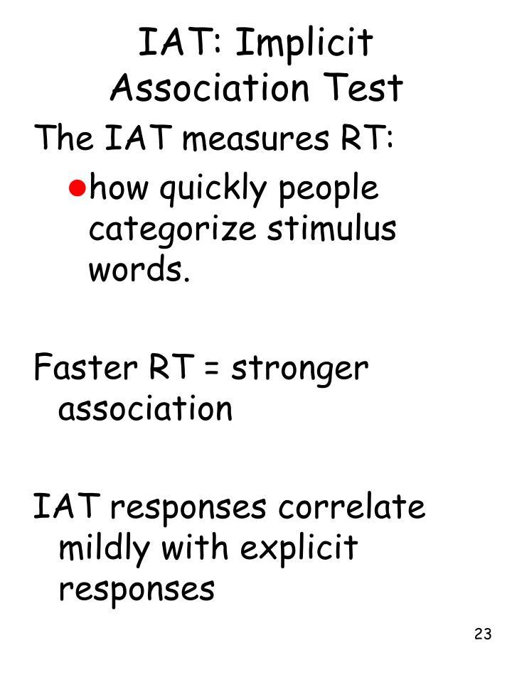 IAT: Implicit Association Test