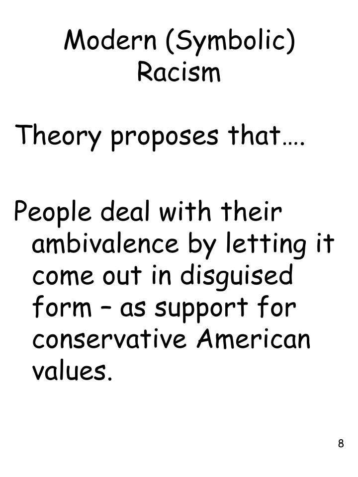 Modern (Symbolic) Racism