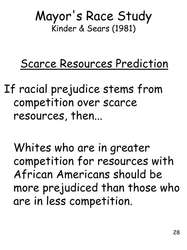 Mayor's Race Study