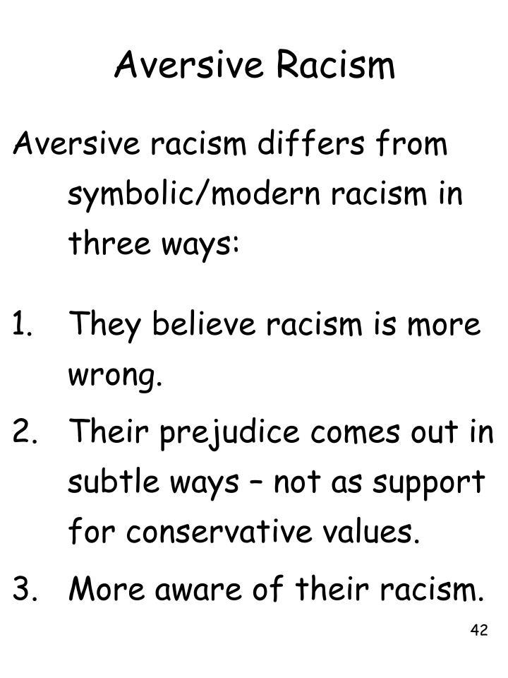 Aversive Racism