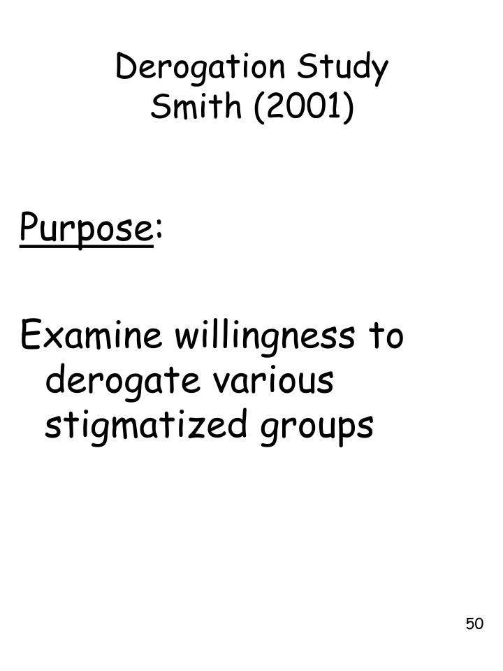 Derogation Study