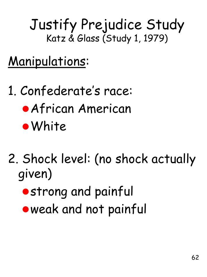 Justify Prejudice Study