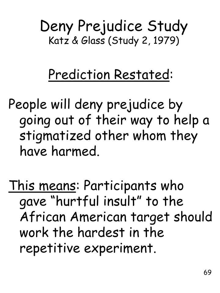 Deny Prejudice Study