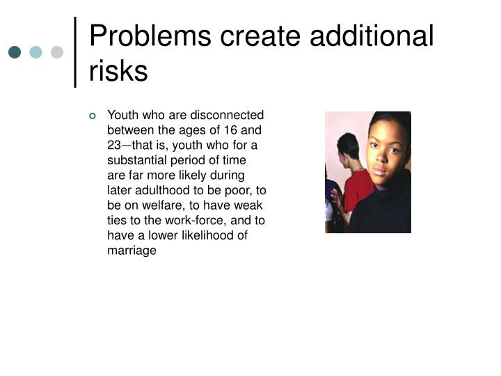 Problems create additional risks