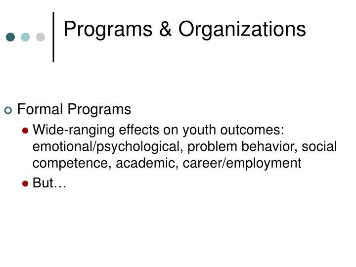 Programs & Organizations