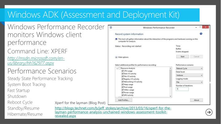 Windows ADK (Assessment and Deployment Kit)