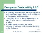 examples of sustainability ce