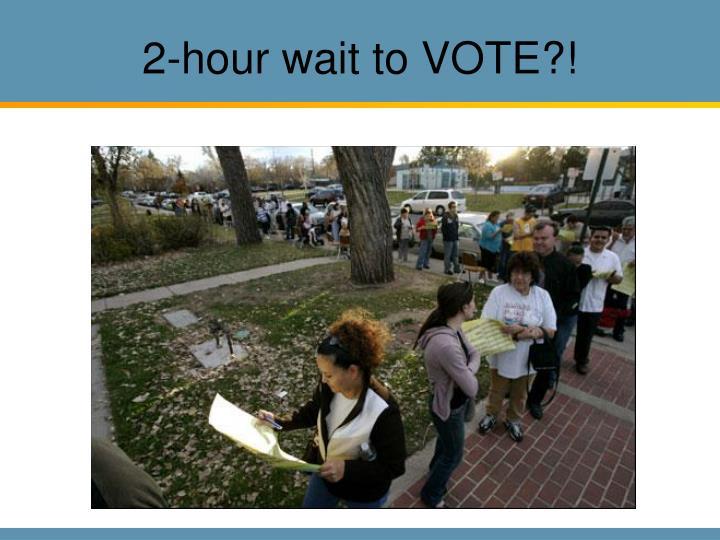 2-hour wait to VOTE?!