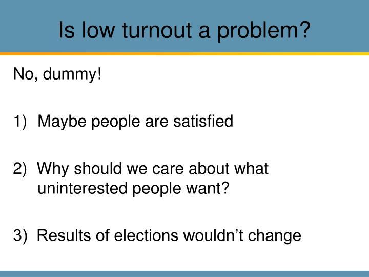 Is low turnout a problem?