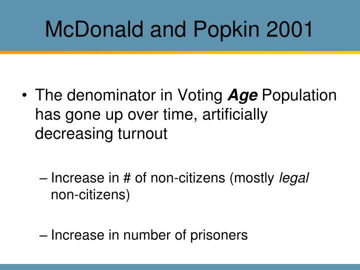 McDonald and Popkin 2001