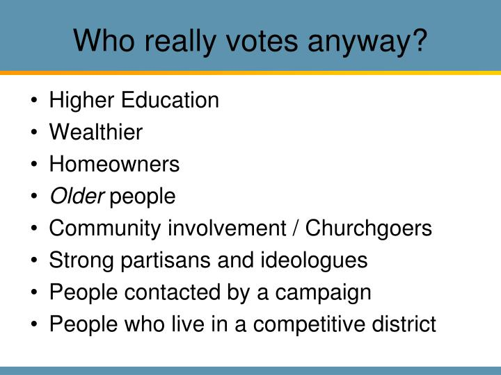 Who really votes anyway?