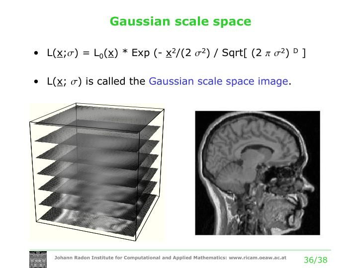 Gaussian scale space