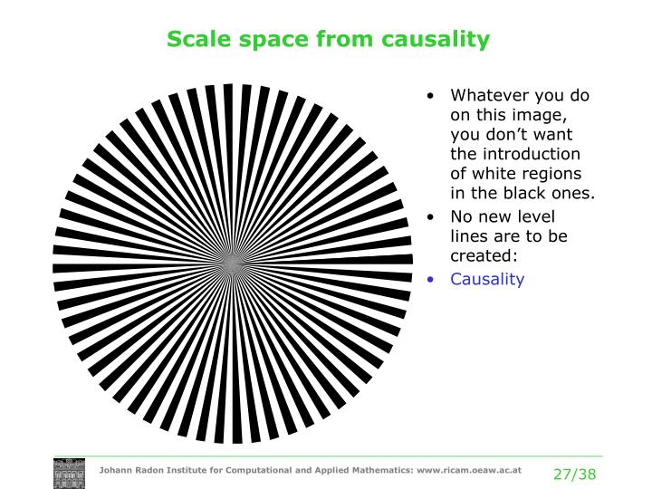 Scale space from causality