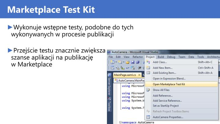 Marketplace Test Kit