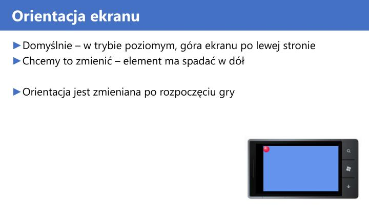 Orientacja ekranu