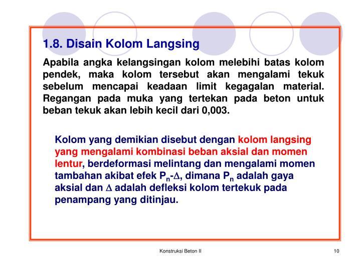 1.8. Disain Kolom Langsing