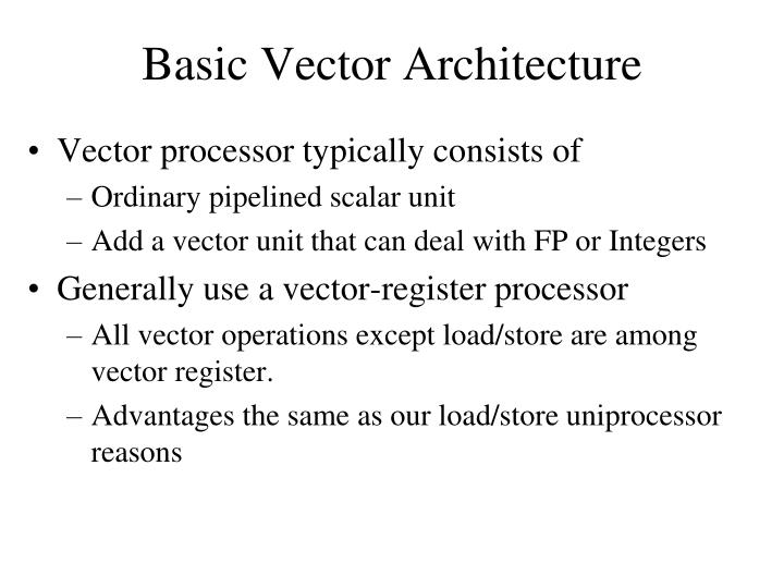 Basic Vector Architecture