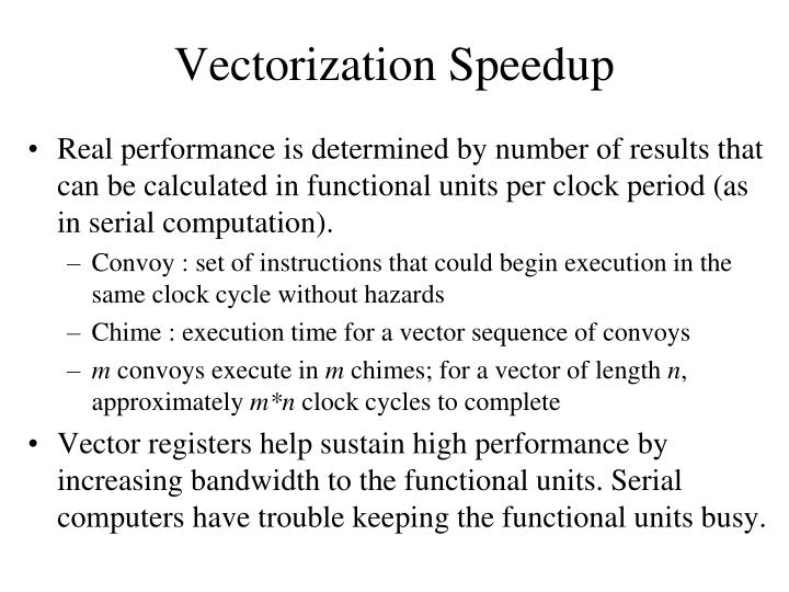 Vectorization Speedup